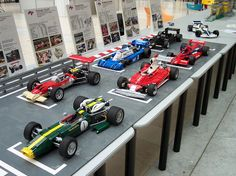 A starting grid display with my latest historical cars as seen during Turin exhibition in october 2010 - Italy Turin, Lego Wheels, Lego Plane, Lego Universe, Batman Car, Used Legos, Lego Machines, Lego Construction, All Lego