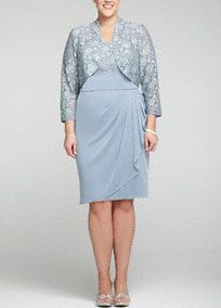 Timeless and polished, this 3/4 sleeve lace jacket dress is a statement all its own!   Sleeveless bodice features dazzling sequin lace detail.  Ruched sash empire waist and side draped skirt adds movement and creates a refined stunning silhouette.  Delicate and feminine 3/4 sleeve jacket adds just the right amount of coverage.  Fully lined. Back zip. Imported poly/spandex/rayon/nylon blend. Dry clean.