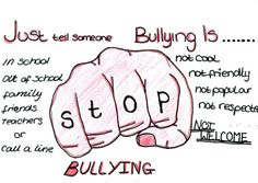 """Poster Contest: """"Stop School Bullying"""" - sps art room Stop Bullying Posters, Cyber Bullying Poster, Stop Bullying Now, Anti Bullying Campaign, Bullying Activities, Meaningful Drawings, Hippie Painting, Poster Drawing, School Projects"""