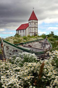 Kálfatjarnarkirkja, Iceland • photo: fredschalk This picture is soothing to me somehow -