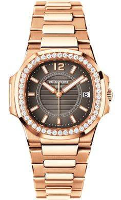 7010/1R-010 Patek Philippe Nautilus Womens 18K Rose Gold Watch | WatchesOnNet.com