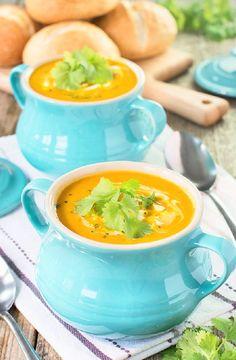 Low FODMAP Recipe and Gluten Free Recipe - Carrot & coriander soup