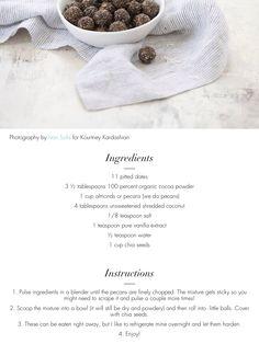 Paleo Bites - Kourtney Kardashian