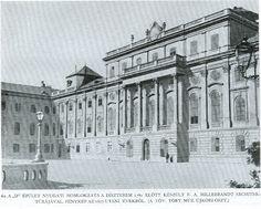 Királyi palota, Díszterem, nyugati homlokzat Buda Castle, Budapest Hungary, Old Photos, Palace, Ss, Louvre, Building, Travel, Antique Photos