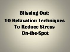 If your hectic lifestyle has got you down, experts say relaxation techniques can bring you back into balance.