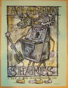 2012 Alabama Shakes - Chicago Concert Poster by Dan Grzeca