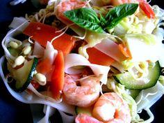 Summer shrimp rice noodles - Recipe
