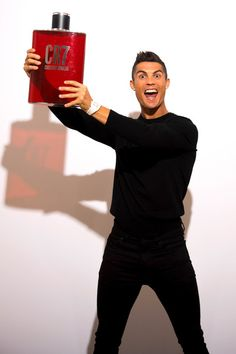 Cristiano Ronaldo Photos - Crisitiano Ronaldo celebrates the launch of his new frangrance on September 2017 in Madrid, Spain. Ronaldo Photos, Cristiano Ronaldo Cr7, New Fragrances, Celebrity News, You Got This, Product Launch, Sporty, Football, Celebrities