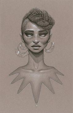 love beauty art vintage passion african american black women black art Goddess…
