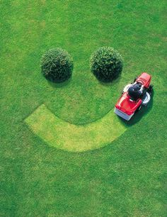 mowing the lawn every Saturday morning..