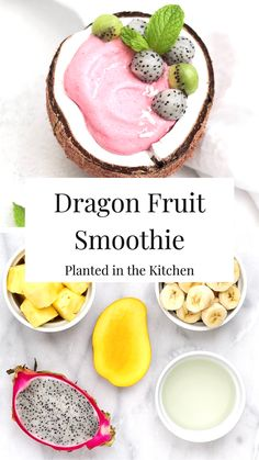 Dragon Fruit Smoothie, Smoothie Bowl, Vegan Cheese Recipes, Healthy Recipes, Delicious Breakfast Recipes, Yummy Smoothies, Plant Based Recipes, Brunch, Meal