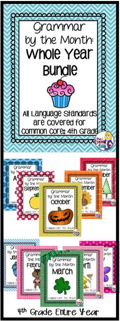 A whole year's worth of thematic, fun grammar practice for 4th graders! All common core language standards are covered! Best of all, skills are spiraled so kids have repeated practice to keep their skills fresh! (TpT Resource)