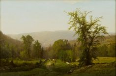 """""""An Adirondack Pastorale,"""" George Inness, 1860, oil on canvas, Albany Institute of History and Art."""