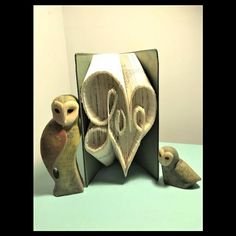 Love in heart Folded Book Art- Love Heart by TheGiftPage on Etsy