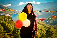 "Gross National Happiness in Bhutan.  ""Balloons for Bhutan"" project by Jonathan Harris."