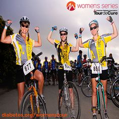 Our Tour de Cure has launched a Women's Series! Ride for the joy of it, the camaraderie and the physical challenge—knowing that every mile gets us closer to stopping diabetes. We'll kick it off with a ride in Santa Barbara, Calif., on Oct. 27. Grab your girlfriends and register now at diabetes.org/womenstour.     http://milesforacure.com/