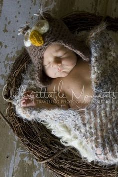 12 Totally Cool Baby Hats: Baby Owlet Newborn Hat and Cocoon