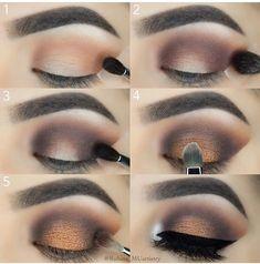 makeup Source by Make Makeup, Girls Makeup, Makeup Kit, Makeup Inspo, Makeup Hacks, Gel Eyeliner, Eyeshadow Makeup, Yellow Eyeshadow, Eyeshadow Palette