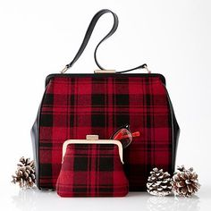 Mark and Graham offers personalized purses for everyday use. Monogram your purse and wallet to stand out among your coworkers. Structured Handbags, Structured Bag, Plaid Purse, Tartan Plaid, Plaid Heels, Tartan Fashion, Monogrammed Purses, Burberry Handbags, Burberry Bags