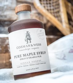 Farmed in Quebec's Eastern Townships, Cosman & Webb's organic dark amber maple syrup is a quintessentially Canadian gift.