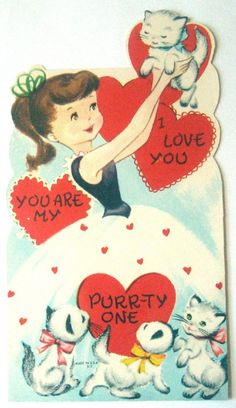 Vintage Valentine Card  I Love You by starmango on Etsy, $0.20