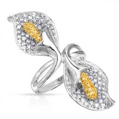 lily-ring-citrine-silver-cz_shn-kr5369_4 Best Deal Bling Jewelry Calla Lily Foil Ring