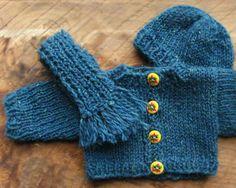 Ravelry: Doll Sweater Set pattern by Peg Richard Fleece Projects, Sweater Set, Knitting Needles, Fingerless Gloves, Arm Warmers, Ravelry, Knit Crochet, Dolls, Pattern