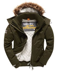 Shop Superdry Mens Microfibre Faux Fur Hooded Windbomber in Army/grey. Buy now with free delivery from the Official Superdry Store. Superdry Jackets, Superdry Mens, Superdry Sale, Men's Jackets, Military Fashion, Mens Fashion, Mens Parka Jacket, Military Style Jackets, Casual Street Style