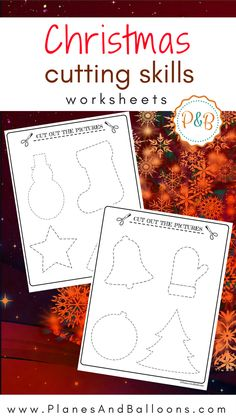 Free Christmas worksheets for preschool and beyond. Perfect for tracing and cutting skills.