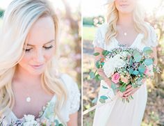 Cherry Blossom Bridal Inspiration - love the colors of this bouquet