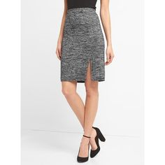 d743f32f04 Gap Women Softspun Knit Pencil Skirt ($35) ❤ liked on Polyvore featuring  skirts,