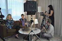 Katrina Jojkity interviewing comedian @FionaO'Loughlin