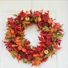 Fall Wreath - Autumn Wreath - At Home With Zan Baking Soda On Carpet, Baking Soda Cleaning, Homemade All Purpose Cleaner, Cleaners Homemade, Diy Fall Wreath, Autumn Wreaths, Homemade Mirrors, Sweet Orange Essential Oil, Glass Storage Jars