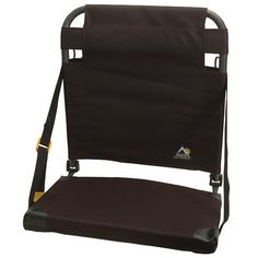 2″ thick cushion, auto foldshoulder strap Single buckle backrest adjustment 300 lbs weight capacity Great for watching sports, picnicking & camping#Getinthegame