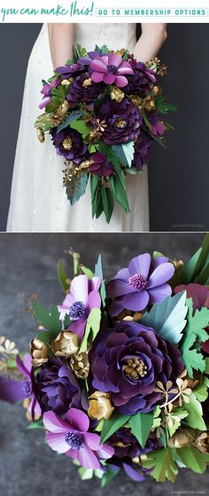 Arranging a Paper Floral Bouquet (Video) - Lia Griffith - www.liagriffith.com #diywedding #diybride #diyweddingbouquet #paperflowerbouquet #paperflower #paperflowers #paperart #papercut #madewithlia