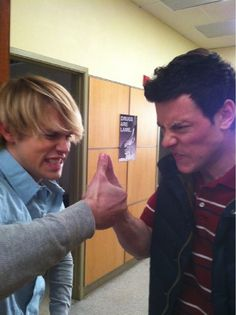 chord overstreet and cory monteith.- brings a tear to my eye <3