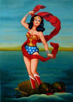 The Birth of Venus: Wonder Woman by Isabel Samaras