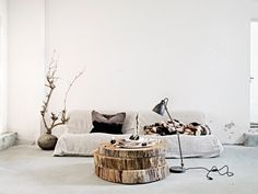 How to Build a Bar Tray Vignette Home design tree slice coffee table! Home Decor Designer Nathan Lee Colkitt