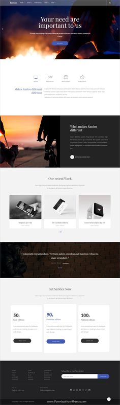 Santos is clean and modern design responsive multipurpose bootstrap #HTML5 #theme for creative #business agency website with 12+ niche homepage layouts to live preview & download click on Visit