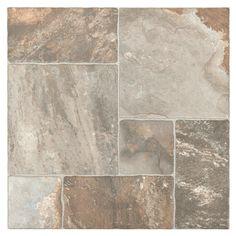 porcelain tile floor Mix Aran Stone Anti-Slip Porcelain Tile - 17 x 17 - 911103865 Porch Tile, Patio Tiles, Outdoor Tiles, Outdoor Flooring, Terrace Tiles, Outdoor Tile Over Concrete, Balcony Tiles, Deck Tile, Stone Tile Flooring