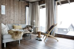 Våre hytter | Leve Hytter Barcelona Chair, Sweet Home, Lounge, Curtains, Furniture, Design, Houses, Home Decor, Airport Lounge