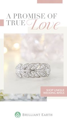 View our stunning collection of women's wedding bands from vintage-inspired styles to unique modern designs.