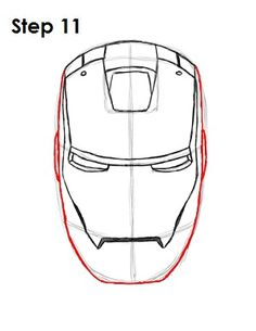 How To Draw Iron Man Step 11 Art Easy Drawings Cartoon