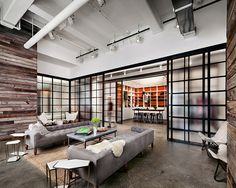 vintage loft design in soho new york new york | ... shot at Shopbop Offices By SHoP Architects New York office design