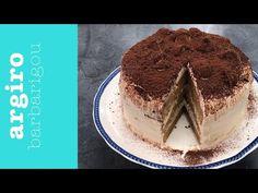 Τούρτα τιραμισού από την Αργυρώ Μπαρμπαρίγου | Με αυτό το γλυκό θα πάθεις πλάκα. Είναι πανεύκολη με τέλεια γεύση και αέρινη υφή που θα σε τρελάνει! Tiramisu, Cheesecake, Cooking, Ethnic Recipes, Youtube, Food, Cakes, Random, Kitchen