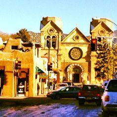 Santa Fe Plaza in Santa Fe, NM