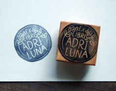 Ex libris stamp with books by alinear on Etsy