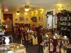 Tearoom of Antiqui-Tea in West View near Pittsburgh, Pennsylvania