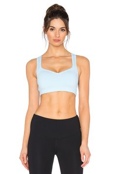 Lorna Jane Aloha Workout Sports Bra in Blue Sky