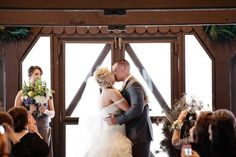 Winter ceremony on the porch at Happy Days. Photo Courtesy of Kalyn Mann Photography